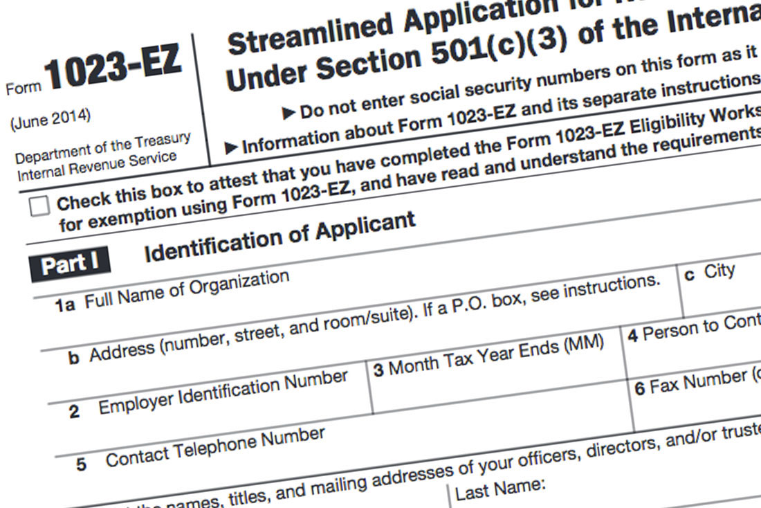 Critics' Concerns About Form 1023-EZ: Spot On | For Purpose Law Group